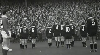 1967 Welsh rugby game at Cardiff Arms Park