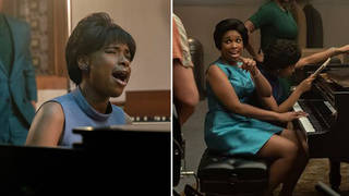 Is Jennifer Hudson really playing piano and singing in 'Respect'?