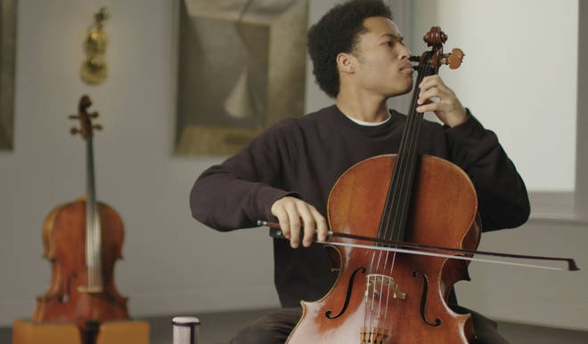 Sheku Kanneh-Mason plays the 1783 cello at Sotheby's London