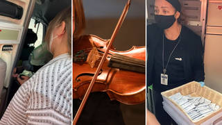 Flight attendant tries to force violinist to check instrument into hold