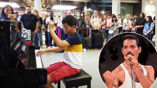 12-year-old virtuoso stuns St Pancras passersby with 'Bohemian Rhapsody' piano arrangement