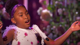 Victory Brinker sings a storming Bellini aria for Simon Cowell and the judges