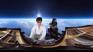 A Star Wars piano medley meets 360-degree virtual reality, and the force is strong