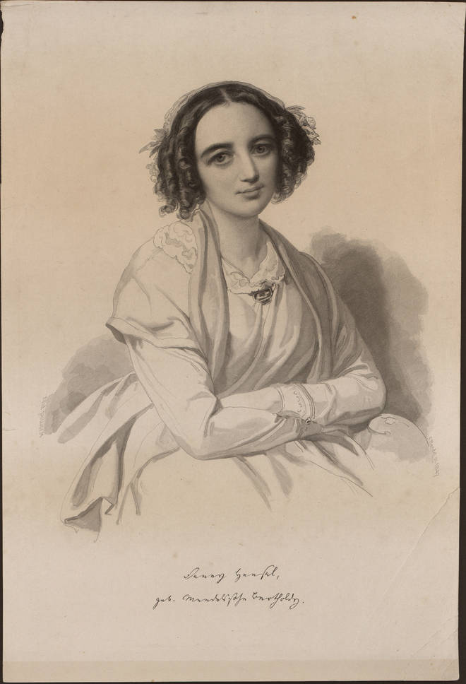 Portrait of Fanny Hensel née Mendelssohn (1805-1847), 1847. Artist: Anonymous