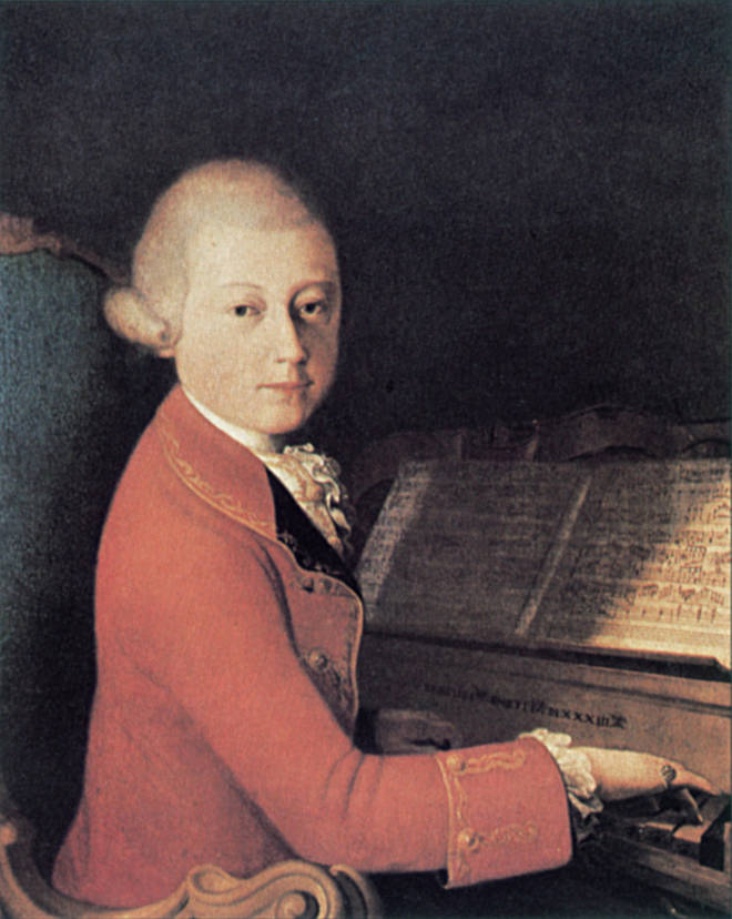 Young Mozart was easily distracted from his practice