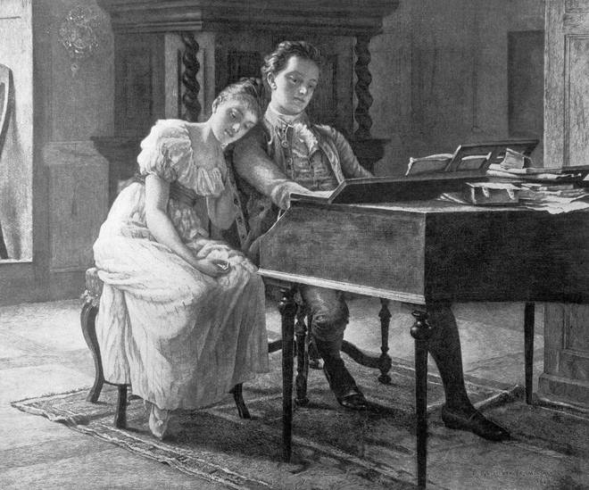 Felix Mendelssohn With His Sister