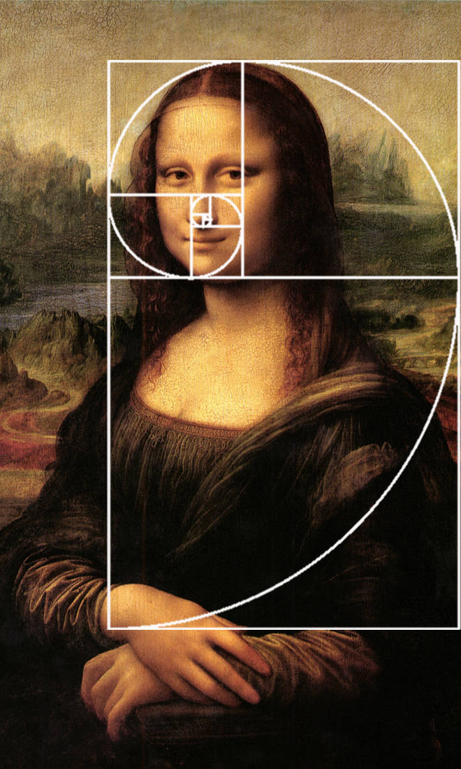 Leonardo da Vinci's use of the Fibonacci Sequence in 'La Gioconda' (Mona Lisa)