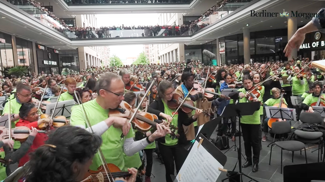 Watch this joyous classical music flashmob transform a mall into a moment of beauty