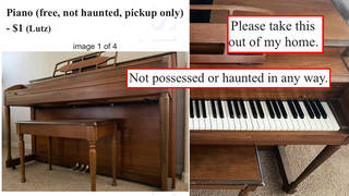 This piano for sale is apparently not haunted, but seems kinda sus.