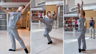 Health worker performs graceful ballet routine in 'moment of pure joy' at Utah hospital