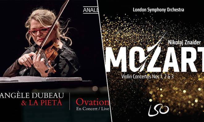 New Releases: Angèle Dubeau – Ovation; Nikolaj Znaider – Mozart: Violin Concertos Nos 1, 2 & 3