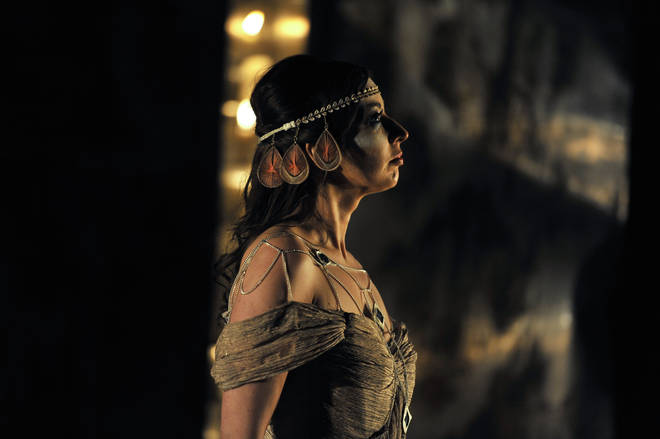 Niamh Kelly as Helen in English Touring Opera's production of Michael Tippet's King Priam