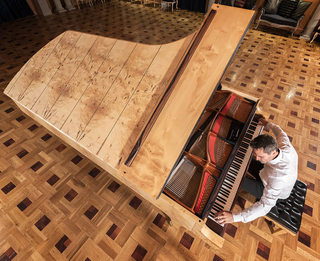 A piano with nine octaves
