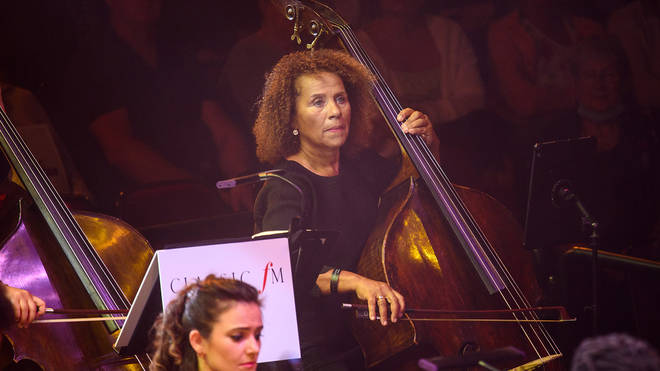 Chi-chi Nwanoku plays in the Chineke! Orchestra at Classic FM Live