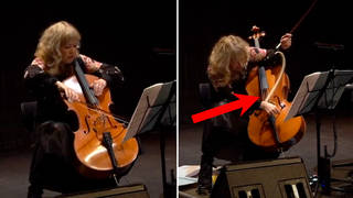 Cellist Zoë Martlew had a sudden surprise when her cello bow exploded mid-recital