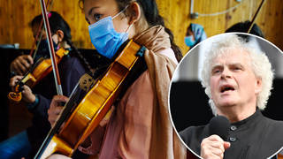 Sir Simon Rattle urges UK government to give asylum to silenced Afghan musicians