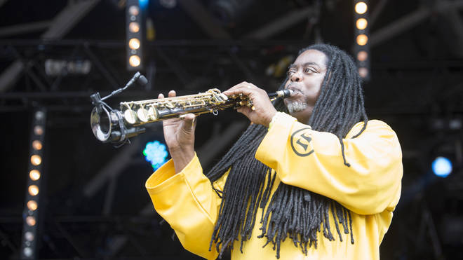 Courtney Pine performs at Camp Bestival 2014