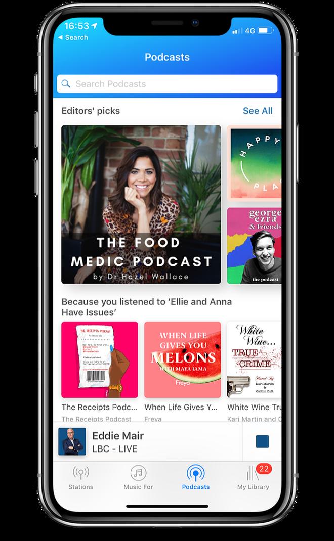 Classic FM App: Podcast player