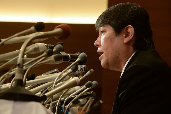 Mamoru Samuragochi speaks in his own press conference one month later.