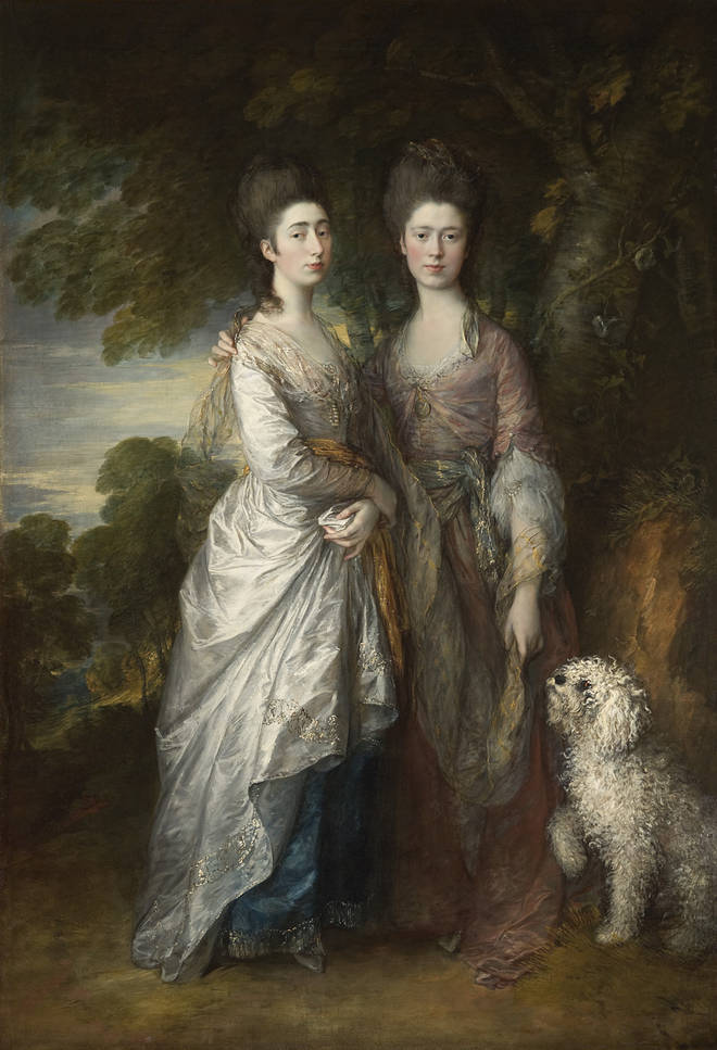 Mary and Margaret Gainsborough, the Artist's Daughters by Thomas Gainsborough c. 1774.