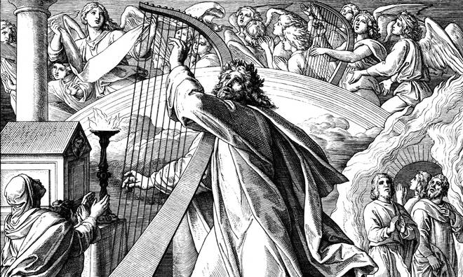 David, a biblical character, was a musician