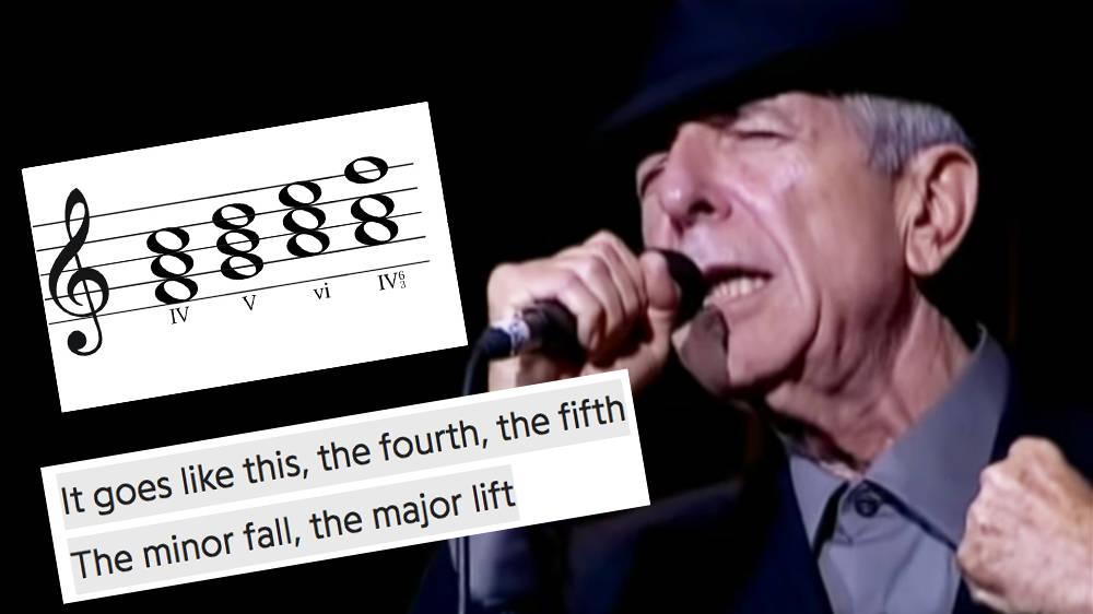 What is the 'secret chord' in Leonard Cohen's 'Hallelujah'?