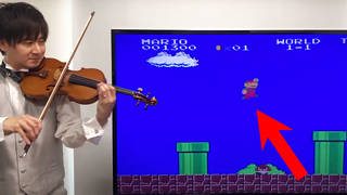 Violin virtuoso plays iconic Super Mario Bros sound effects with startling accuracy