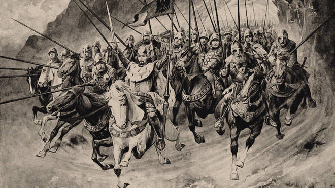Saint Wenceslaus and his Blanik Knights set off from the mountain