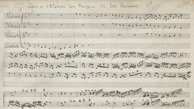 Pachelbel Canon score