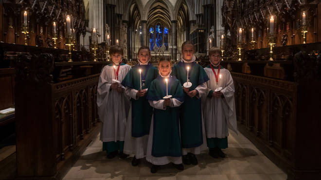 Salisbury Cathedral Choristers Prepare For Christmas Services