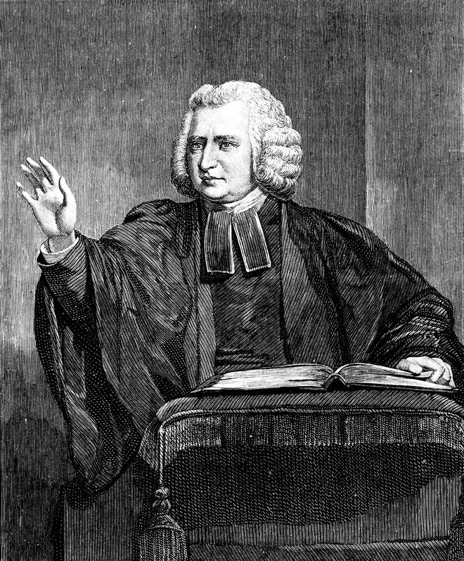 Charles Wesley, 18th century English preacher and hymn writer.