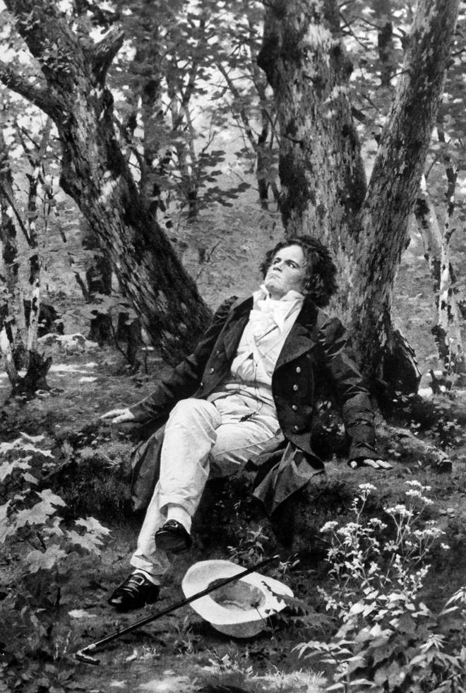 Beethoven represented musing in a pastoral setting