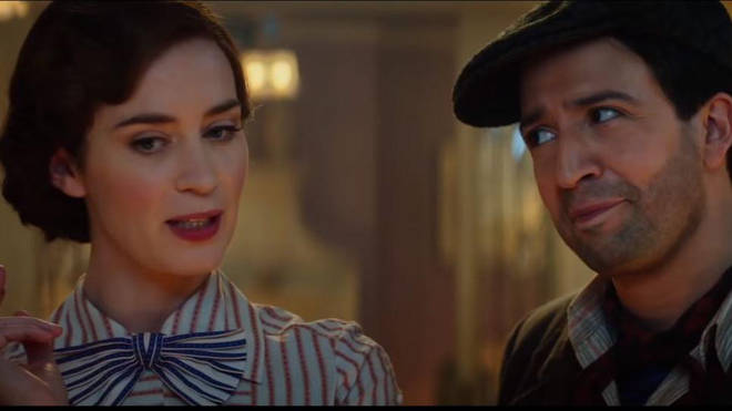 Emily Blunt and Lin-Manuel Miranda in Mary Poppins Returns