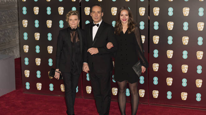 Alexandre Desplat with his wife Dominique and their daughter Antonia