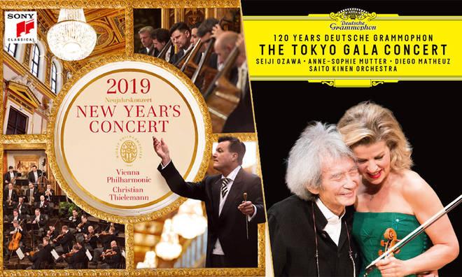 New Releases: New Year's Concert 2019 – Vienna Philharmonic & Christian Thielemann, 120 Years of Deutsche Grammophon: The Tokyo Gala Concert – Seiji Ozawa & Anne-Sophie Mutter