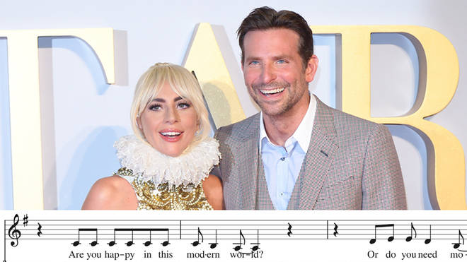 Lady Gaga and Bradley Cooper attend the UK premiere for A Star Is Born
