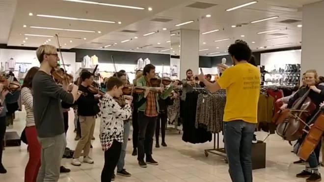 A Prokofiev flashmob in Primark