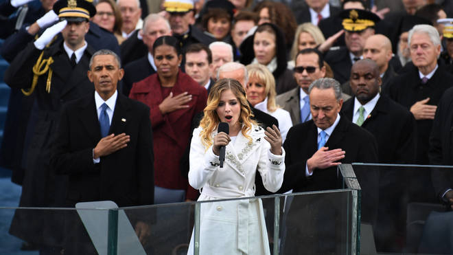 Jackie Evancho performing at Donald Trump's Inauguration Ceremony