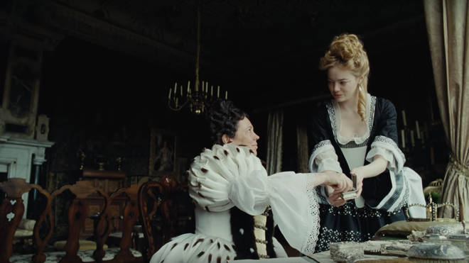 Olivia Colman and Emma Stone in The Favourite