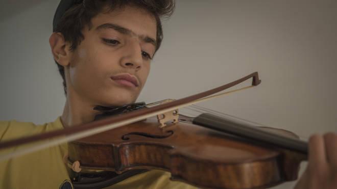 Self-taught violinist