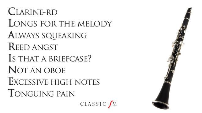 Clarinet acrostic