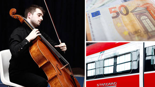 Cellist fined €50 on a train to Genoa
