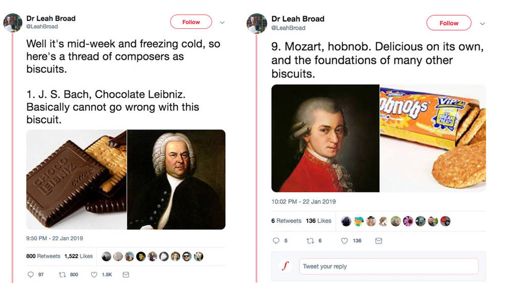 Someone is comparing composers to biscuits – and the results are hilarious