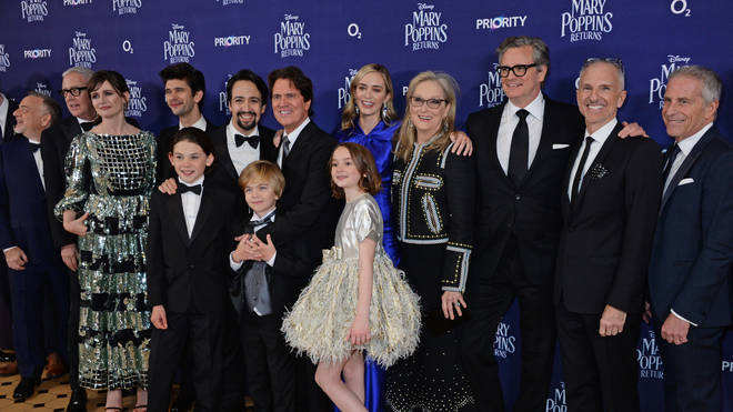 The cast of 'Mary Poppins Returns' at the European Premiere - VIP Arrivals