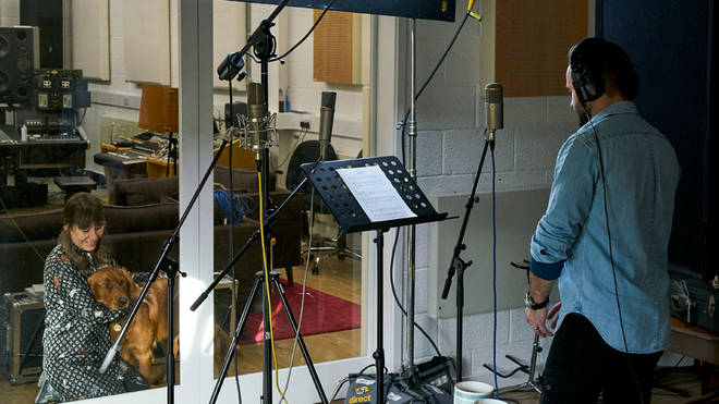 Tenor Alfie Boe rehearses for the Animal Requiem concert