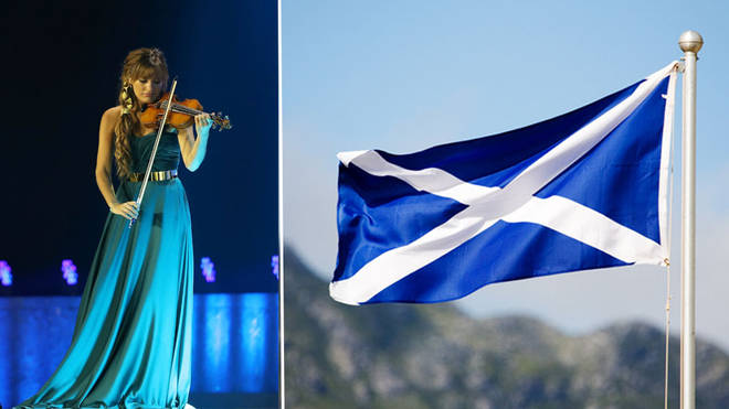 Nicky Benedetti plays Scottish National Anthem at Glasgow Games opening ceremony
