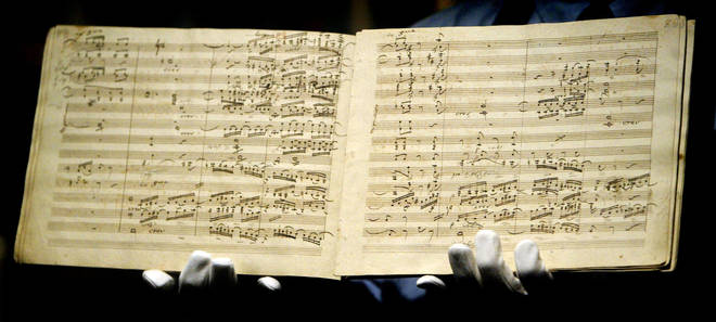 Beethoven's Ninth Symphony Manuscript is sold for £1.9 Million GBP