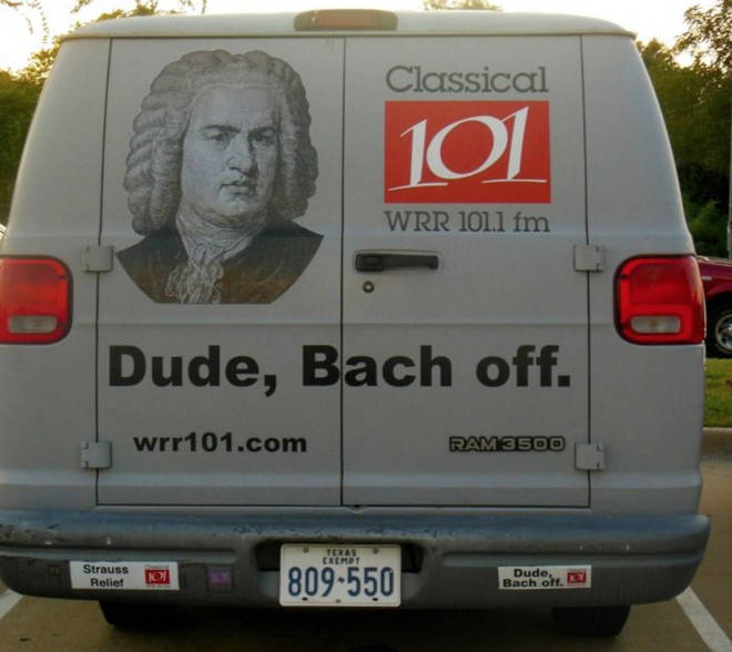 Dude, Bach off my car