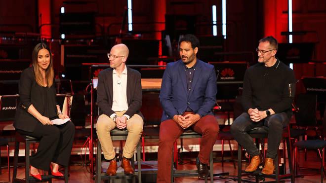 Myleene Klass, Arne Herkelmann, Lucas Cantor and Andrew Garrihy at Huawei – 'Unfinished Symphony'
