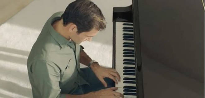 Roger Federer learned the piano as a child